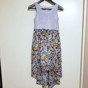 Xhilaration Butterfly Hi-Low Dress 10/12